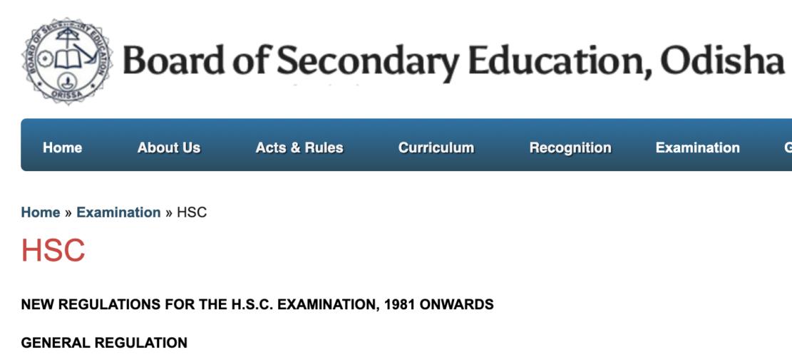 Odisha School Board Result