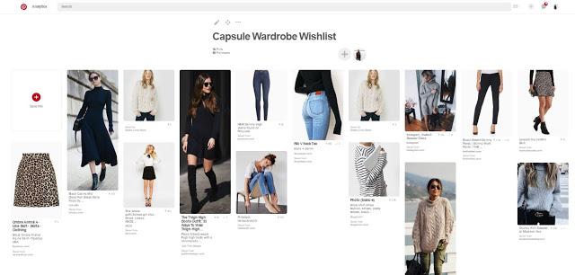 capsule wardrobe wishlist