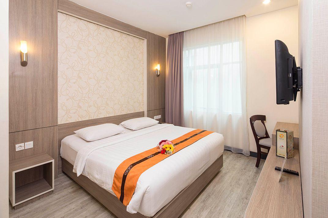 bedroom of flokq at Oria hotel