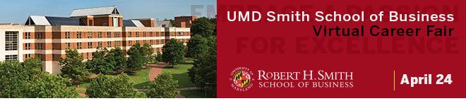 UMD Smith Virtual Career Fair Banner