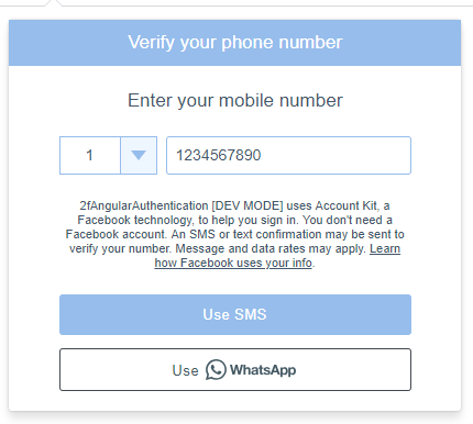 Two Factor Authentication (2fa) in Angular 6 using Facebook