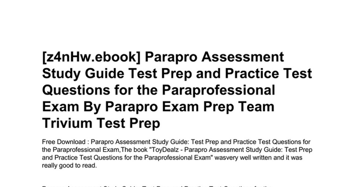 parapro-assessment-study-guide-test-prep-and-practice-test-questions ...