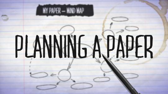 Planning a Paper