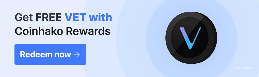 VET Rewards on Coinhako