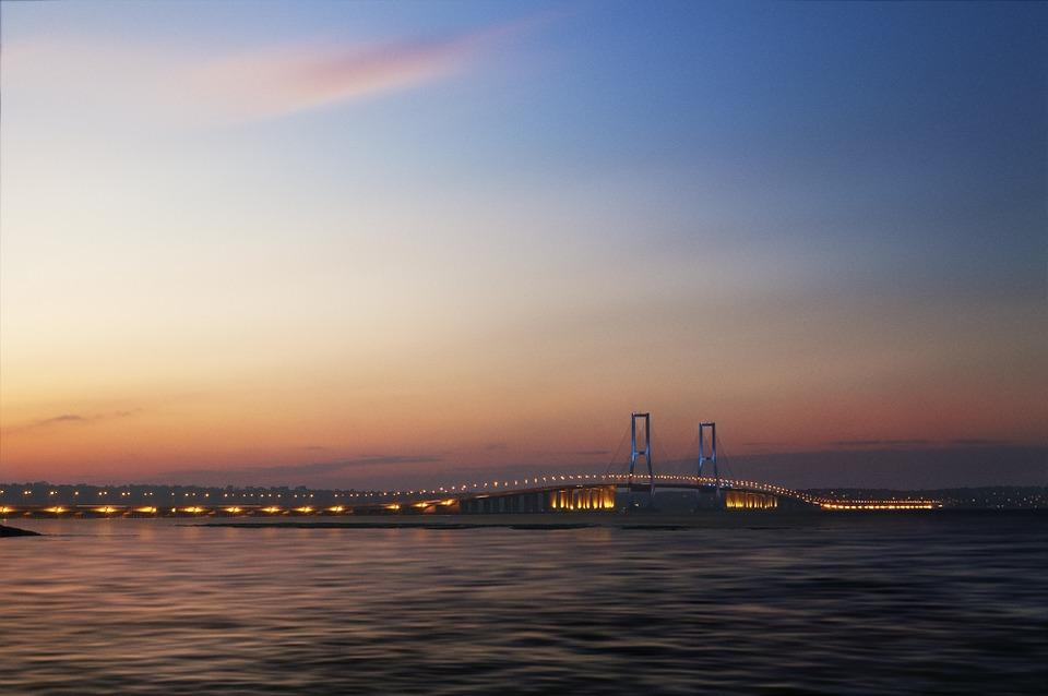 Surabaya, Bridge, Suramadu, Sky, Java, Madura, Photo