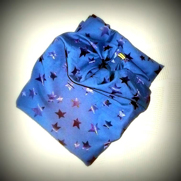 Ringsling met sterren blauw