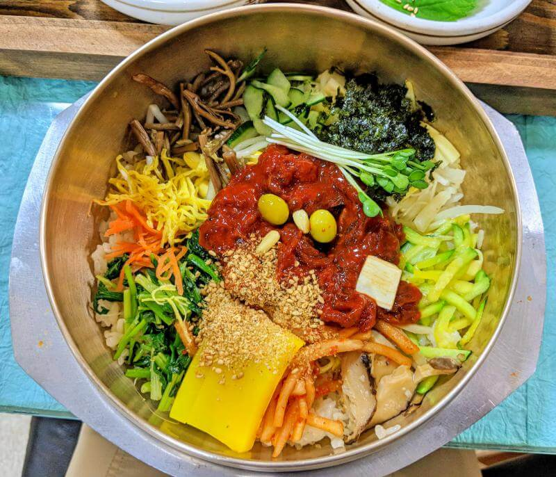 Bibimbap at restaurant, Gajok Hoegwan in Jeonju, South Korea