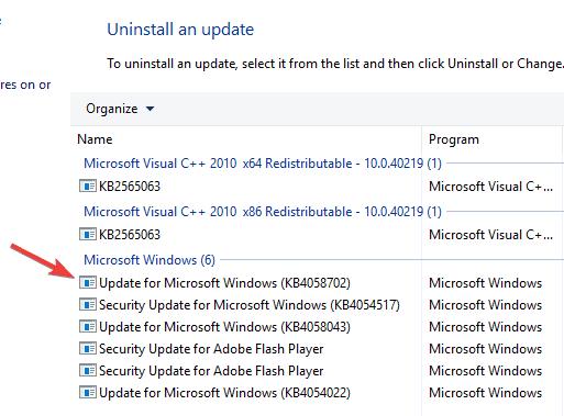 Шрифты отсутствуют после обновления Windows