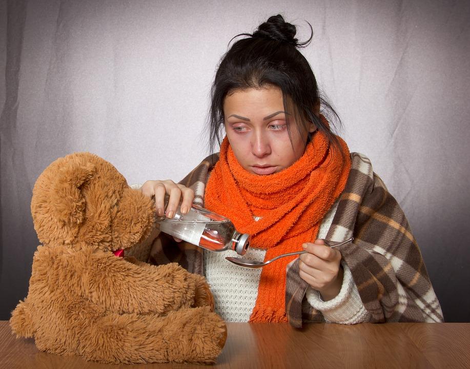 https://pixabay.com/photos/young-woman-flu-medicine-toy-2171052/