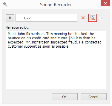 Click Edit in the Sound Recorder window.