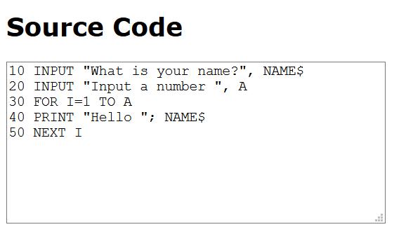 cod scris in Basic - invatam programare - De ce acum 25 de ani era mai usor sa inveti programare?