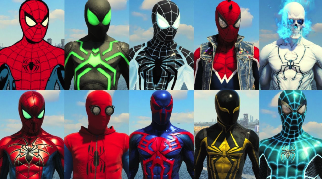 Image result for spiderman ps4 costumes