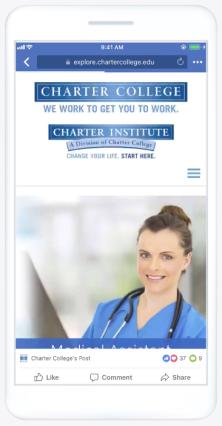 Facebook slideshow ad on mobile