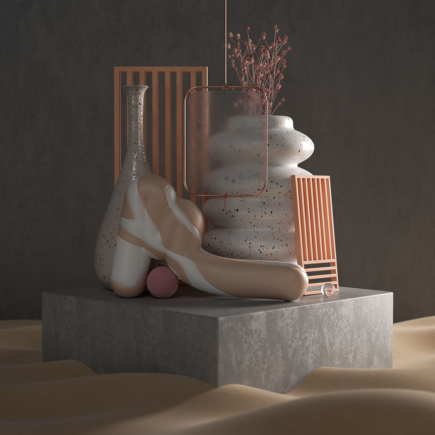 3D 4d architecture CGI geometric ILLUSTRATION  octane Render shapes texture