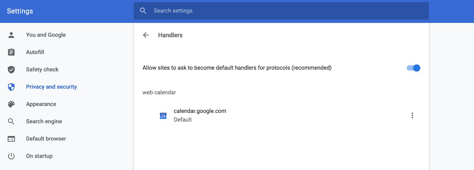 settings/handlers