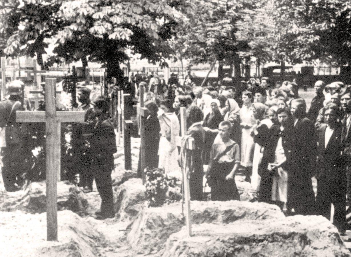Похорон розстріляних. Липень 1941 р.