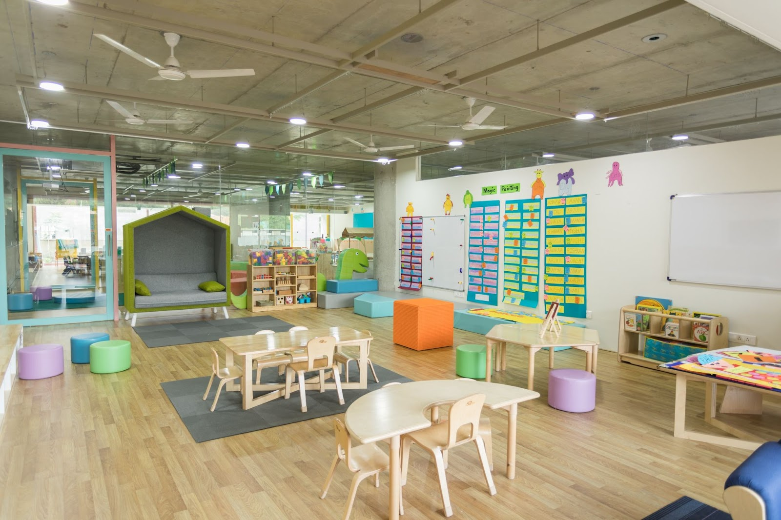 Classroom inspired by the Montessori method
