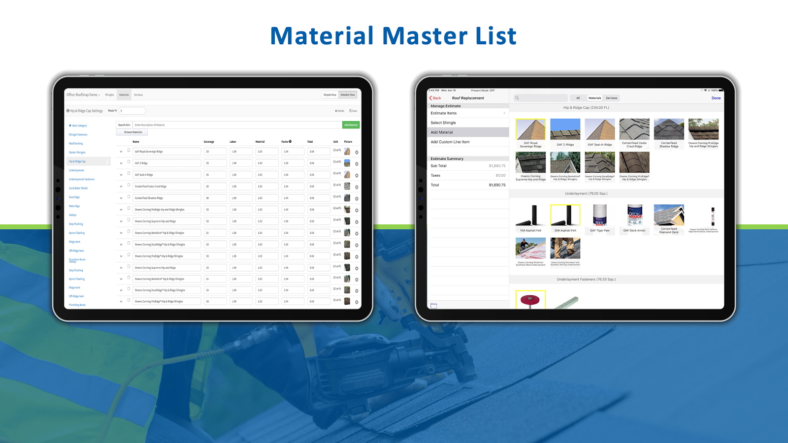 RoofSnap's estimation platform is both robust and easy to use and was on full display in the webinar.