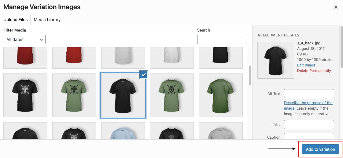 WooCommerce variation images