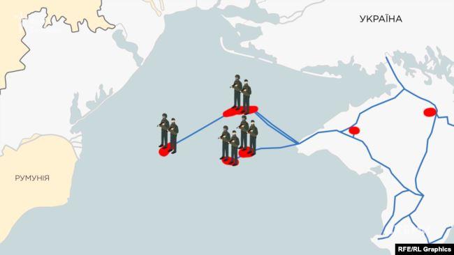 Усередині конкурсної ділянки – захоплені українські газовидобувні об'єкти і озброєні росіяни на них