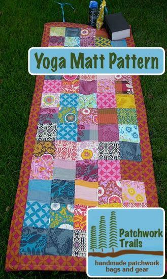 Quilted Yoga Mat by patchwork trails