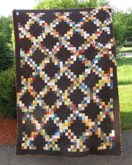 Scrappy Irish Chain Quilt: Pattern by Craftsy Member