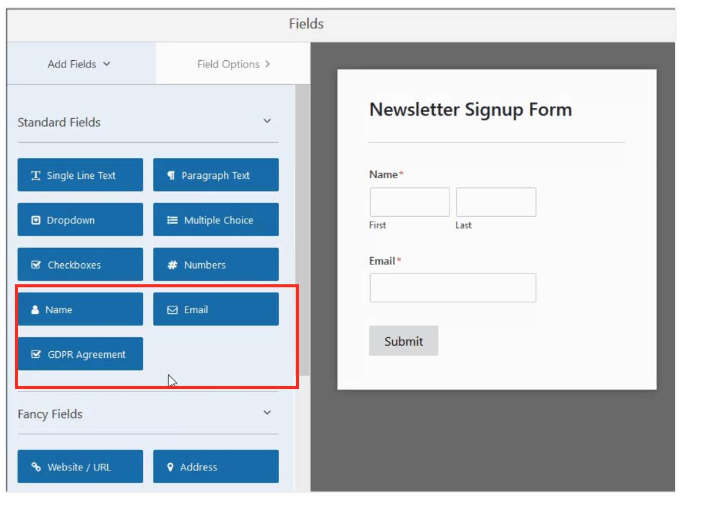 Add fields to Mailchimp forms