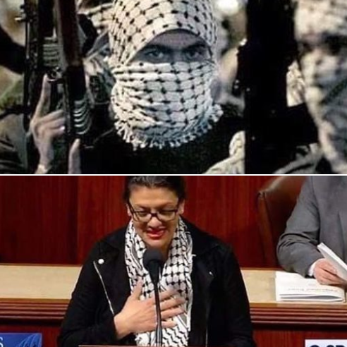 Post falsely ties Tlaib scarf to Islamic State