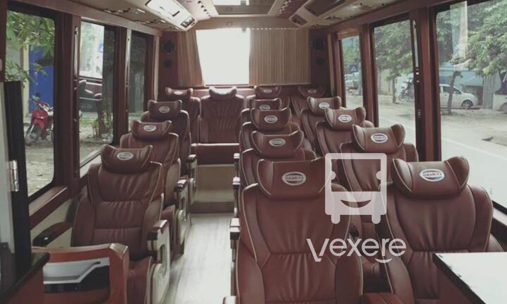 Nội thất xe Bảo Khang Limousine đi Bắc Giang từ Hà Nội