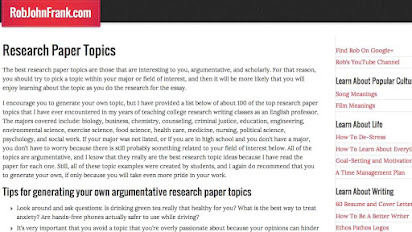 research paper topics for middle school