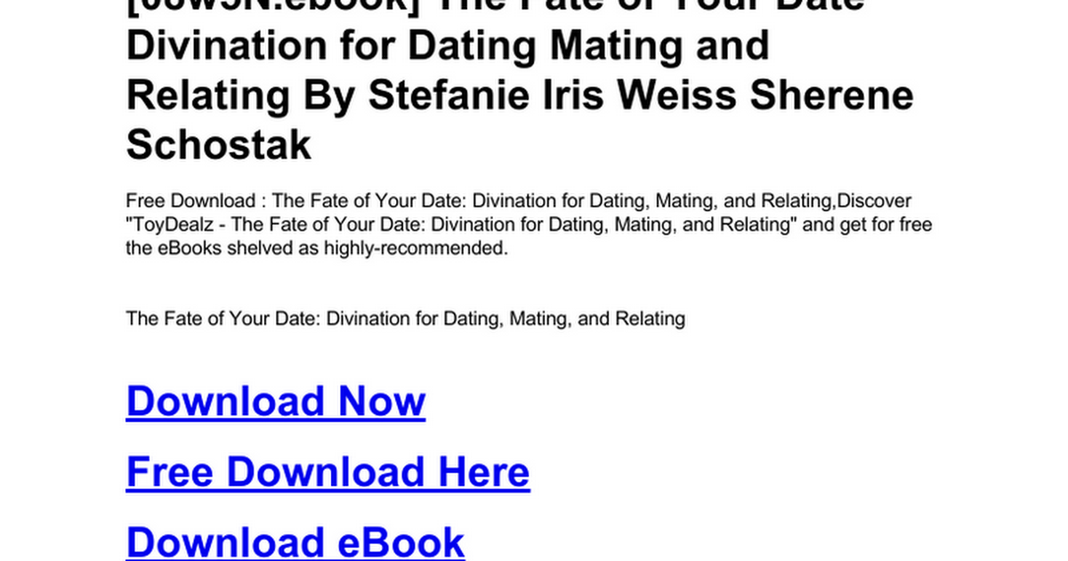 the truths about dating and mating free download