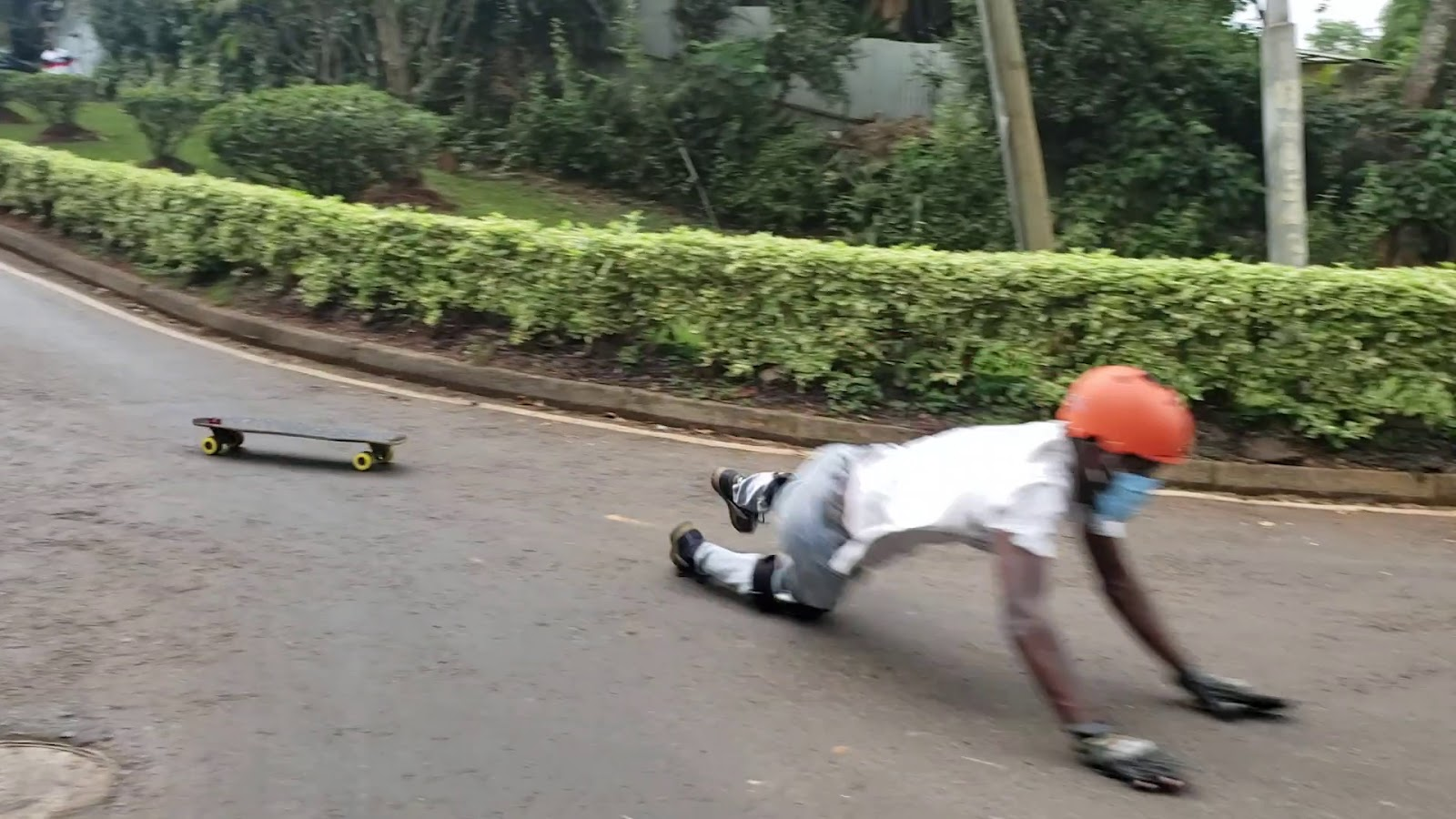 how to fall properly downhill skateboarding