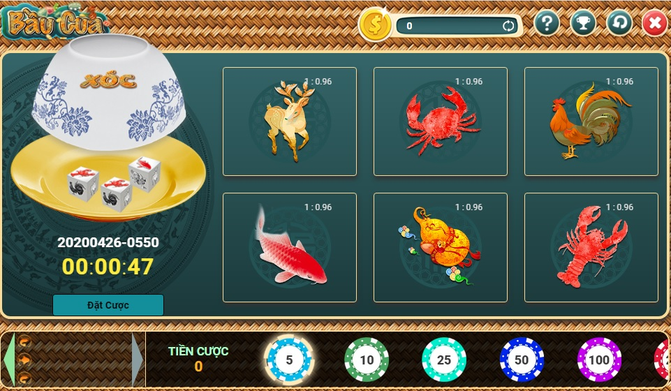 Tham gia bầu cua tôm cá trên các trang casino.