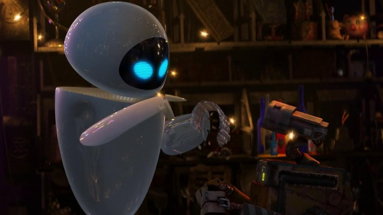 EVE explores things with Wall-E