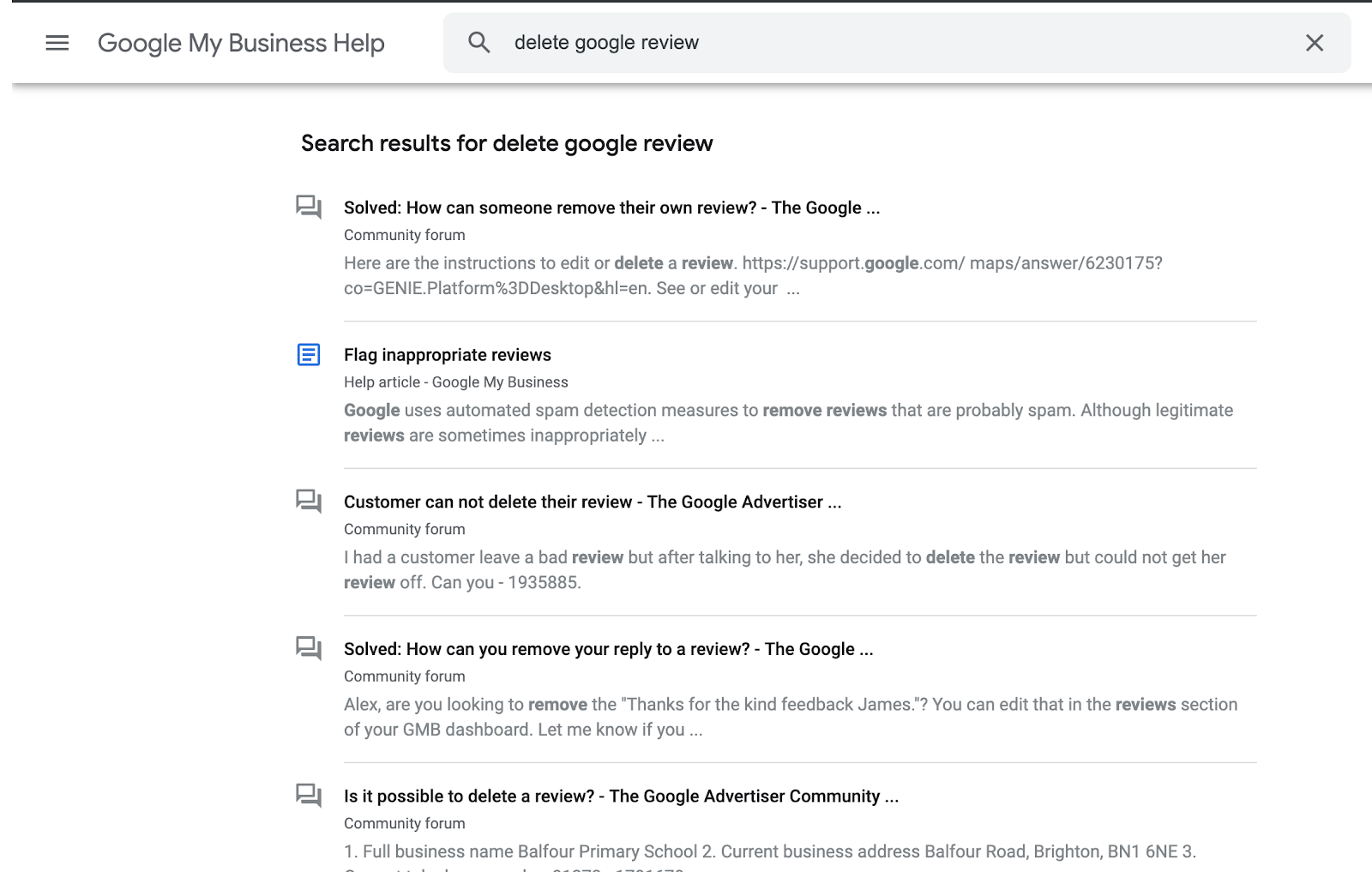 How to Delete Google Reviews 4