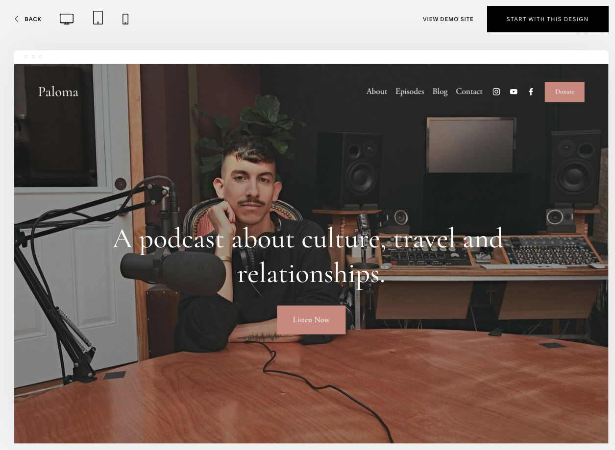 Squarespace Podcast Theme