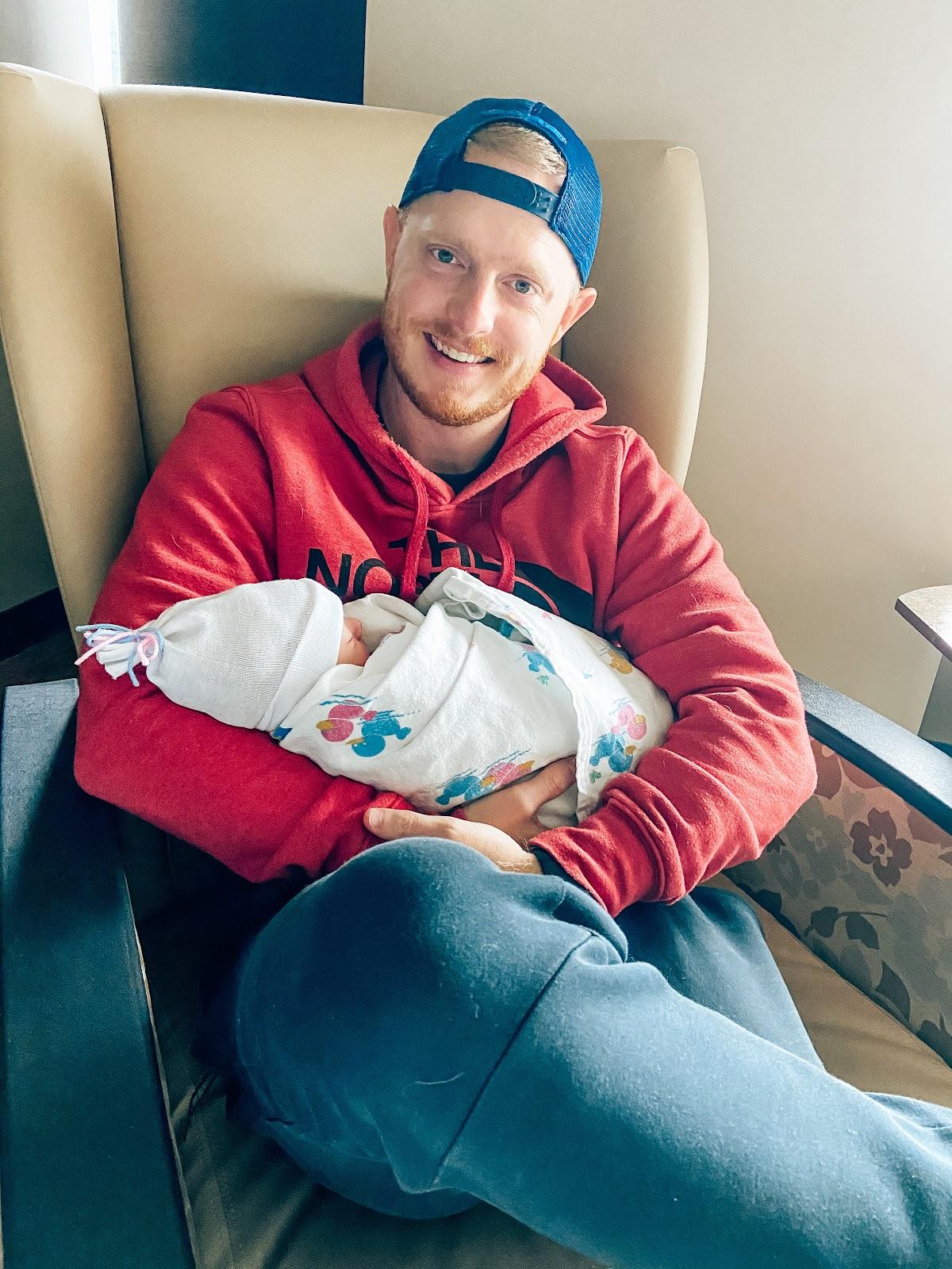 my birth story; newborn baby boy, AdventHealth Shawnee Mission Birth Center