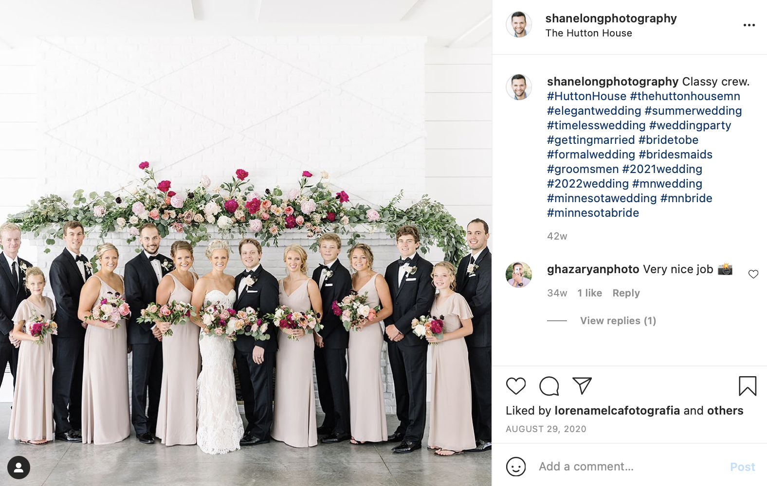 bridal party with bridesmaids and groomsmen