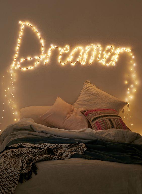 Make A Fun Sleeping Space with String Lighting
