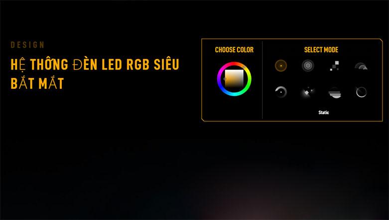 Card màn hình/ VGA ASUS TUF Gaming GeForce RTX 3060 OC 12G (TUF-RTX3060-O12G-GAMING) | Hệ thống đèn LED RGB bắt mắt