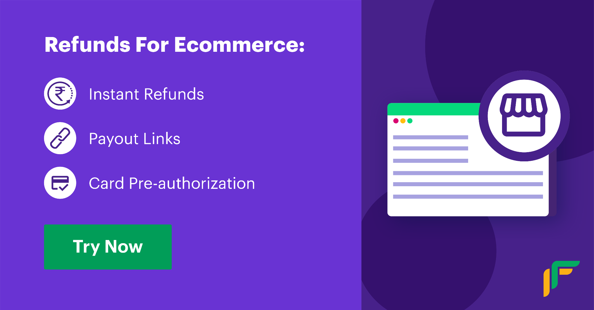 payments systems for eCommerce: instant refunds