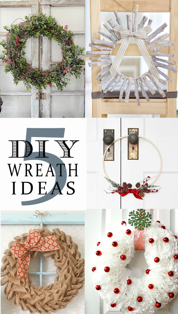 5 DIY WREATH IDEAS