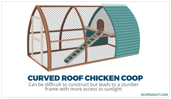 curved roof chicken coop graphic