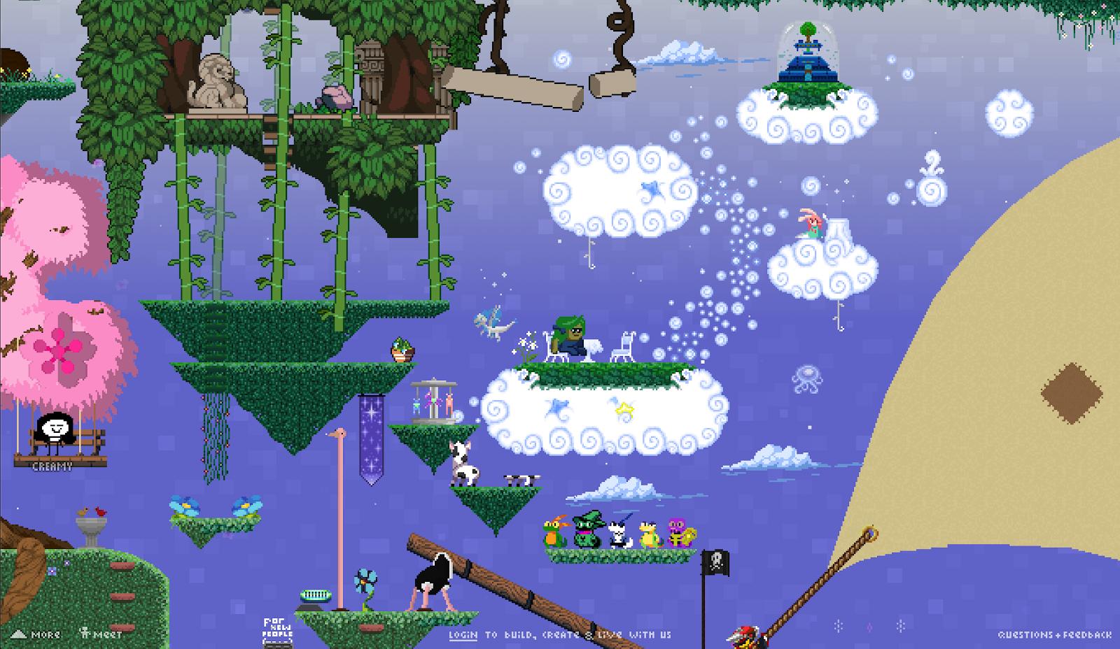 zen garden in the skies of Manyland