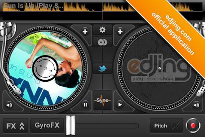 Edjing free dj mixer turntable download