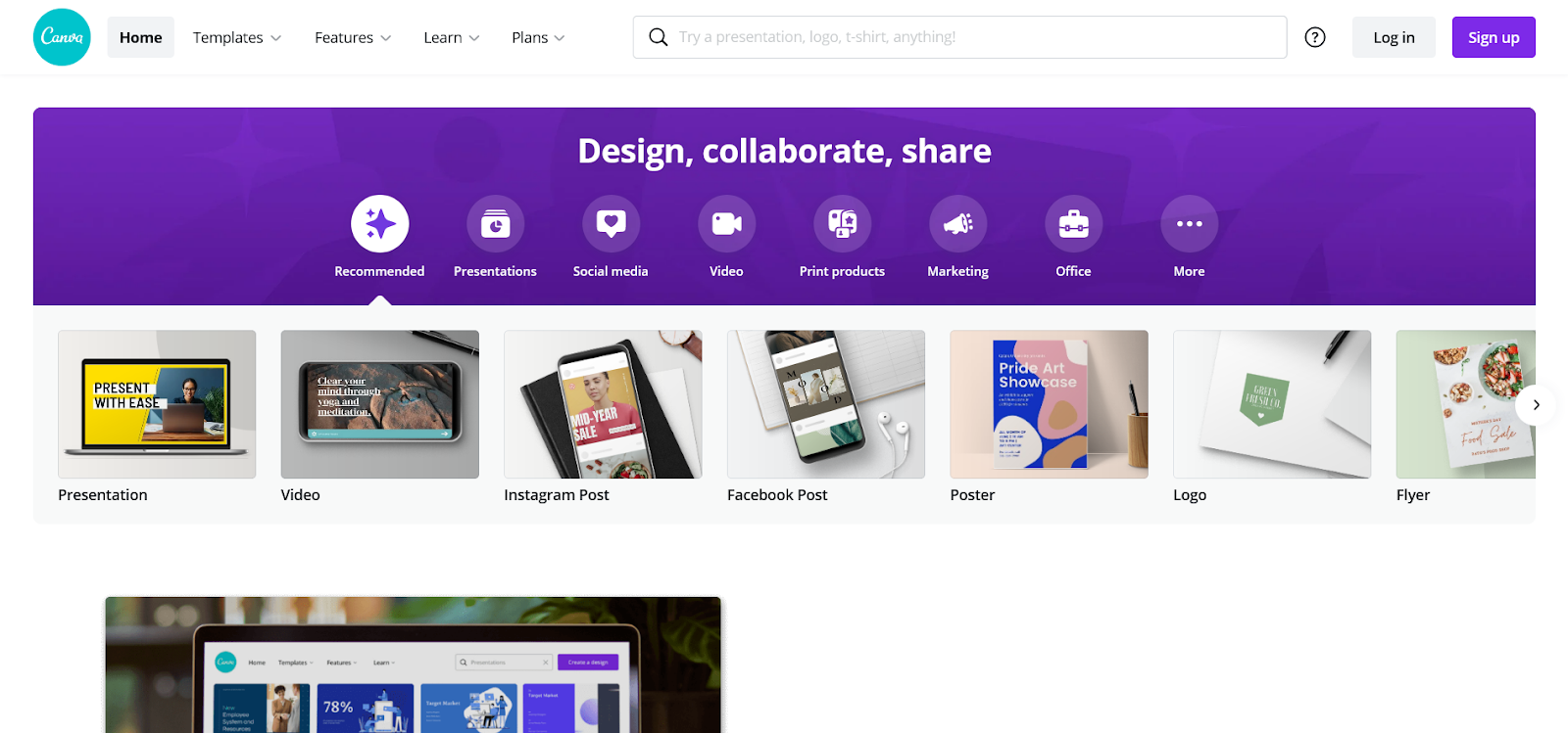 canva for creating instagram ad