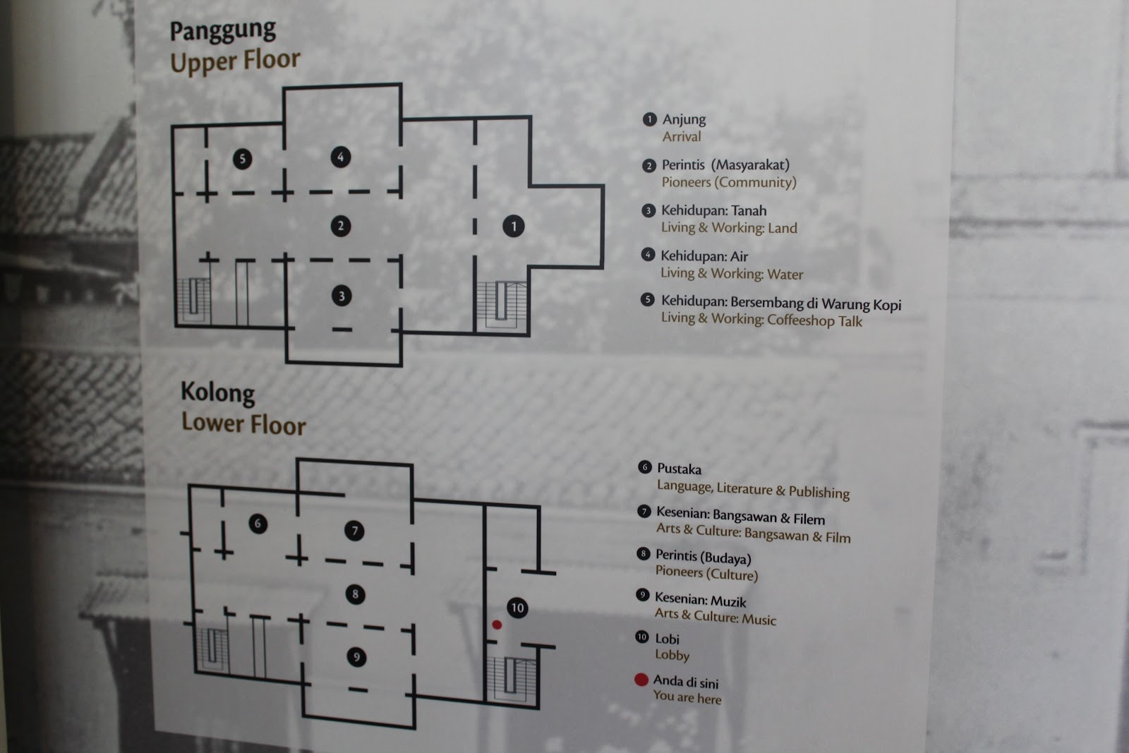 A mapped layout of the main building