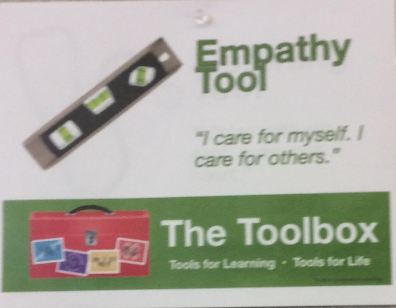 Empathy Tool Sign - I care for myself. I care for others.