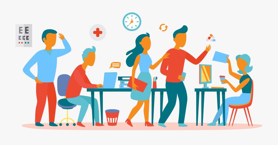 Office Teamwork Clipart , Png Download - Clip Art Office Team Work , Free  Transparent Clipart - ClipartKey