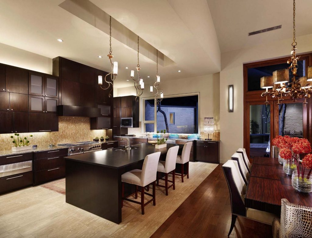 Phòng bếp kiến trúc Á Đông
